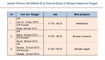 jadwal UN revisi 2
