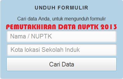 Pemutakhiran Data NUPTK, yang wajib diikuti oleh PTK. | Pagar Alam dot