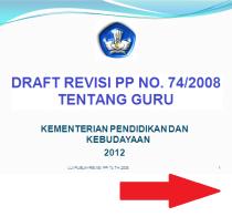 Draft Revisi PP 74 Tahun 2008